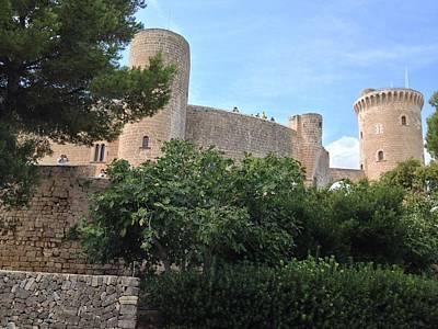 Photograph - Beliver Castle At Palma De Mallorca by Alan Lakin