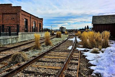 Photograph - The Roundhouse Evanston Wyoming - 5 by Ely Arsha