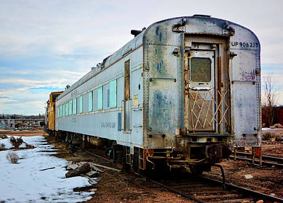 Photograph - The Roundhouse Evanston Wyoming Dining Car - 1 by Ely Arsha