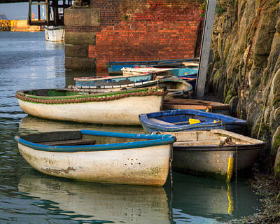 Folkestone Harbour Wall Art - Photograph - The Rowboats Of Folkestone by Tim Stanley