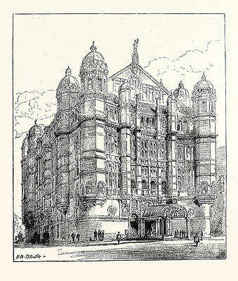 Outlook Drawing - The Royal English Opera House In Cambridge Circus Exterior by English School