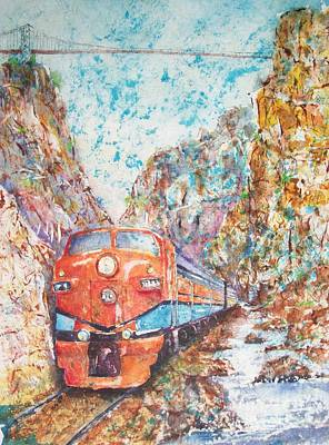 The Royal Gorge Train Art Print