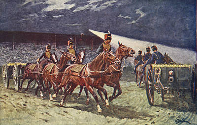 Great Drawing - The Royal Horse Artillery Drive by William Barnes Wollen