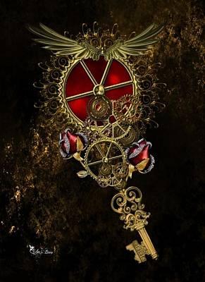 Digital Art - The Royal Key by Ali Oppy