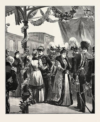 The Royal Marriage Reception Of The Duke And Duchess Art Print by German School