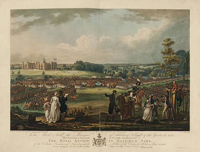 The Royal Review In Hatfield Park Art Print