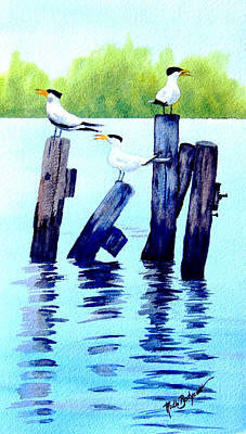 The Royal Terns Art Print by Ruth Bodycott