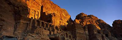 The Royal Tombs At Petra, Wadi Musa Art Print by Panoramic Images