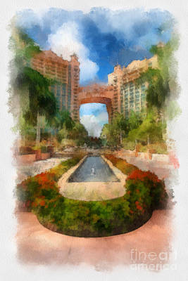 Hotel Digital Art - The Royal Towers Atlantis Resort by Amy Cicconi