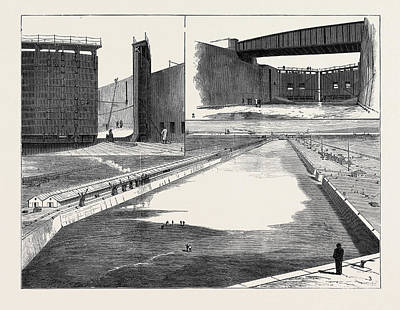 Dock Drawing - The Royal Victoria And Albert Docks North Woolwich 1 by English School