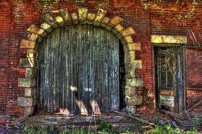 Ns Photograph - The Rail Road Warehouse Doors 2 by Reid Callaway