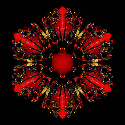 Digital Art - The Ruby Flame Broach by Owlspook