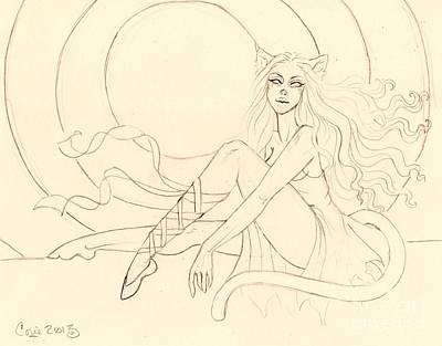The Ruby Slipper Sketch Art Print by Coriander  Shea