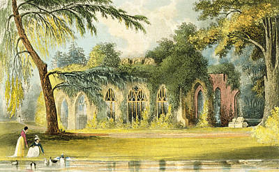 Great Drawing - The Ruins   Frogmore by John Gendall