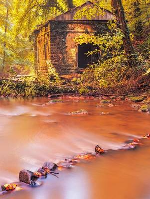 The Ruins Of An Old Mill Art Print by Maciej Markiewicz