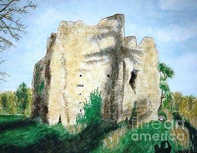 Painting - The Ruins Of Odiham Castle by Denise Railey