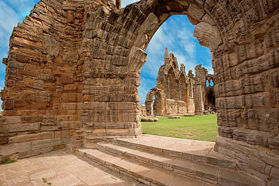 Whitby Abbey Photograph - The Ruins Of Whitby Abbey by Miva Stock