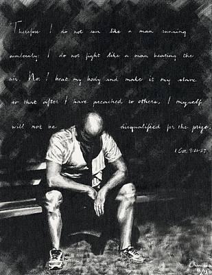 Bleacher Painting - The Runner by Charissa Nolt
