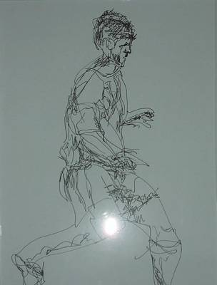 Drawing - The Runner by Esther Newman-Cohen