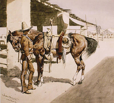The Rural Guard Mexico Print by Frederic Remington