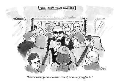 The Rush Hour Bouncer Art Print by Carolita Johnson