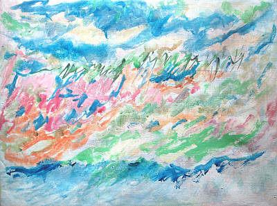 Painting - The Rush Of The Sea  by Esther Newman-Cohen