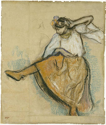 Ballet Painting - The Russian Dancer by Edgar Degas