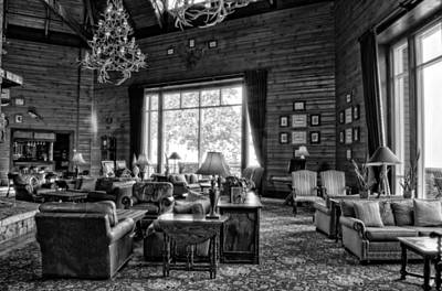 Photograph - The Rustic Elegance Of Brasstown Valley Resort In Black And Whit by Greg Mimbs