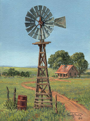 Randy Painting - The Rusty Barrel by Randy Follis