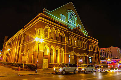 Photograph - The Ryman At Night by Robert Hebert