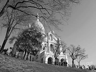 Sacre Coeur Photograph - The Sacre Coeur At Montmartre by Alex Cassels