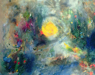 Abstractions Painting - The Sacred Spiral by Jane Deakin