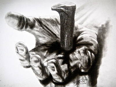 Hands Of Love Drawing - The Sacrifice by Ann Supan