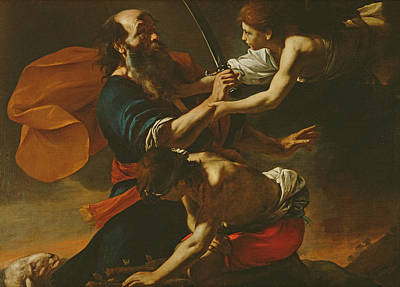 Sacrificial Photograph - The Sacrifice Of Isaac, 1613 Oil On Canvas by Mattia Preti