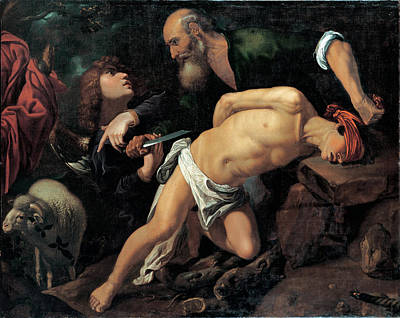 Religious Art Painting - The Sacrifice Of Isaac by Pedro Orrente