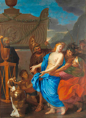 Painting - The Sacrifice Of Polyxena by Charles Le Brun