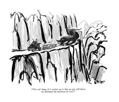 The Sad Thing Art Print by Warren Miller