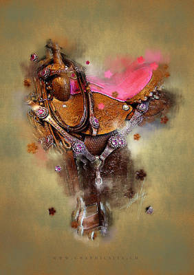 Abstract Wildlife Digital Art - The Saddle II by Graphicsite Luzern