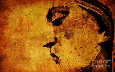 Jesus Face Digital Art - The Sadness In Humanity by Michael Grubb