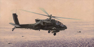 Apache Painting - The Sadr City Flying Club by Wade Meyers