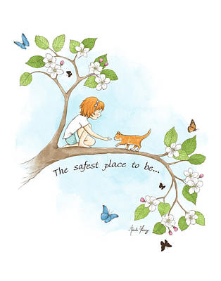 The Safest Place To Be Print by Amanda Francey