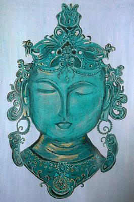 Buddha Face Painting - The Sage by Karunita Kapoor