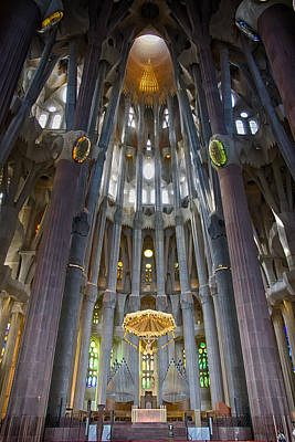 Photograph - The Sagrada Familia Gaudi Magnum Opus Dsc01520 by Greg Kluempers