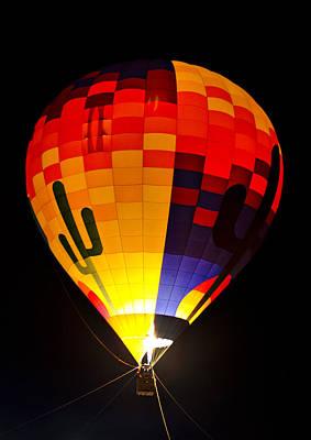 Photograph - The Saguaro Balloon  by Saija  Lehtonen