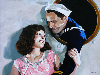 Painting - The Sailor's Return - Clara Bow by Jo King