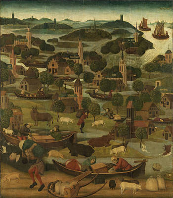 The Saint Elizabeth's Day Flood, Master Of The St Art Print