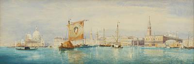 Holland Drawing - The Saint Mark's Basin. Venice by James Holland