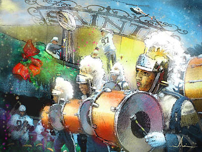 Painting - The Saints Parade In New Orleans 2010 01 by Miki De Goodaboom