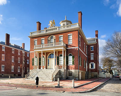 Photograph - The Salem Custom House - Historic New England by Mark E Tisdale