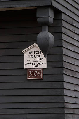 Photograph - The Salem Massachusetts Witch House by Jeff Folger